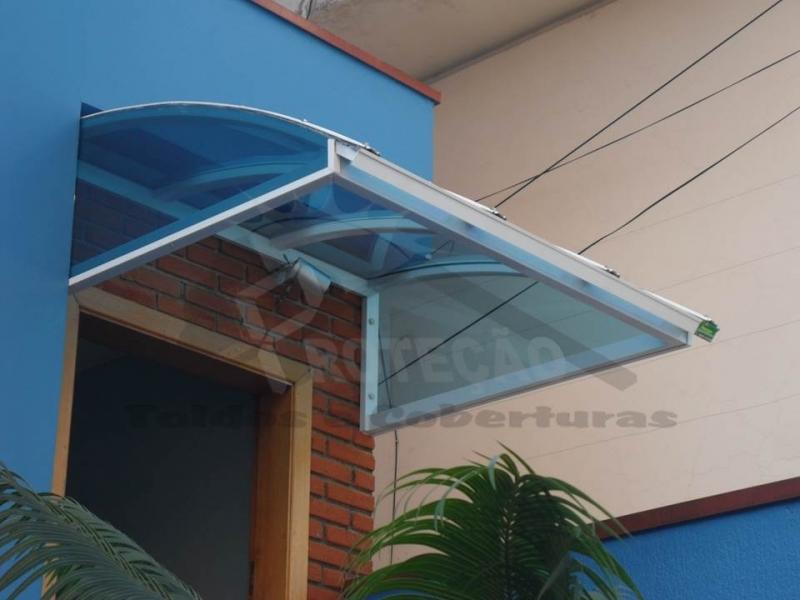 Cobertura de Policarbonato Transparente  Preço Butantã - Cobertura de Policarbonato Transparente