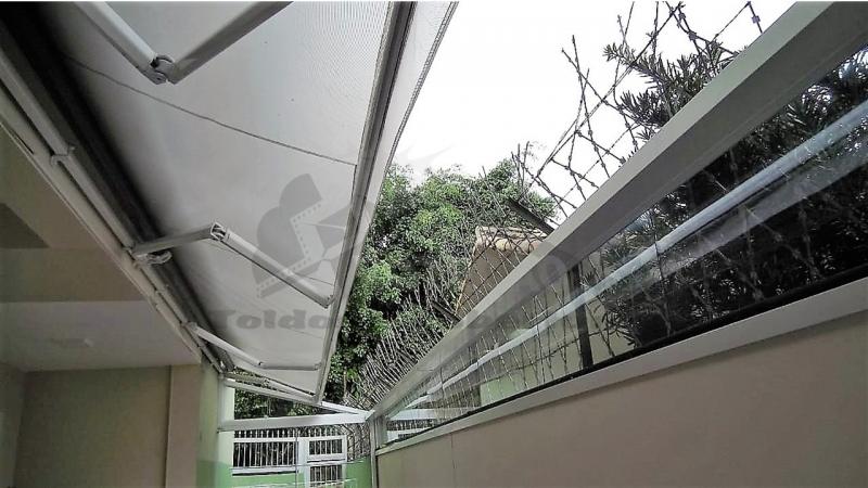 Cobertura Policarbonato Retrátil Automatizada  Preço Jardim Paulista - Cobertura de Policarbonato Retrátil para Jardim de Inverno