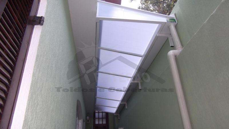 Well-known Cobertura em Policarbonato - Proteção Toldos e Coberturas EA51