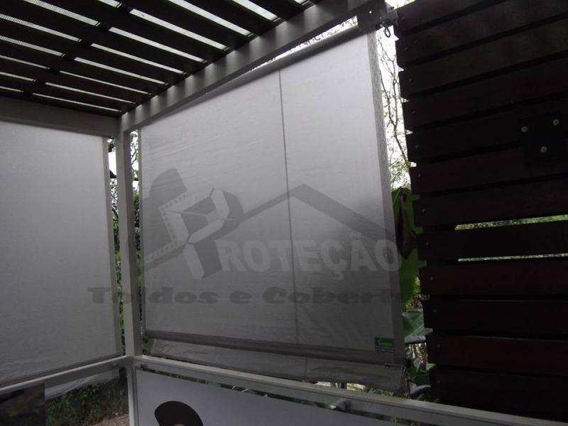 Cortinas de Rolo para Restaurante Interlagos - Cortina de Rolo em área Externa