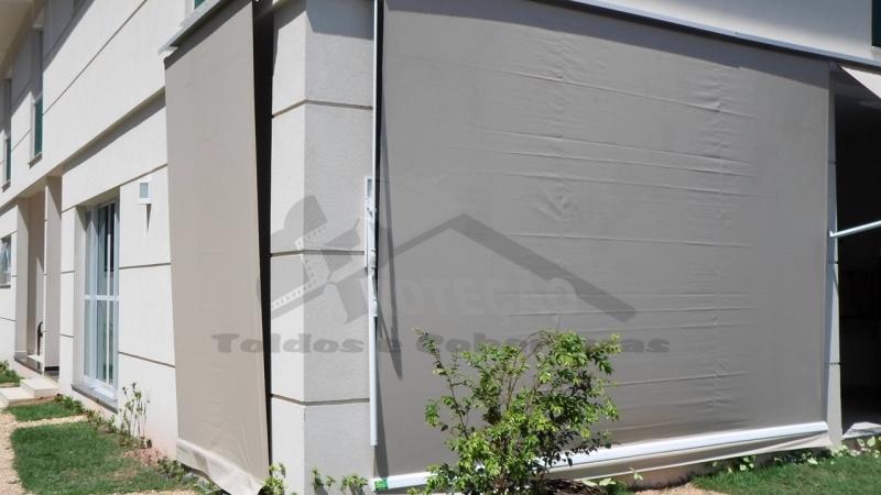 Cortina de lona com visor transparente prote o toldos e - Cortinas de loneta ...