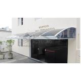 cobertura de policarbonato compacta para janelas Jardim Bonfiglioli