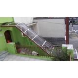 cobertura de policarbonato para escada preço Cidade Dutra