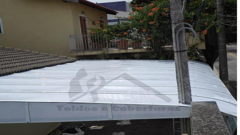 cobertura de policarbonato retrátil para jardim de inverno preço Lapa