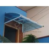 cobertura de policarbonato transparente  preço Rio Pequeno