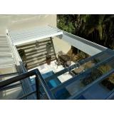 cobertura em policarbonato alveolar para piscina Jardim Paulistano