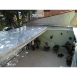 cobertura em policarbonato compacta para garagem Jardins