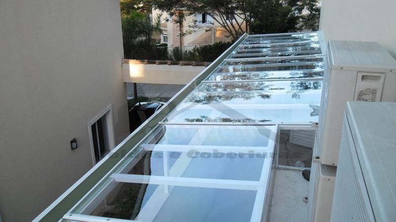 cobertura policarbonato retrátil manual  preço Jardim Ângela
