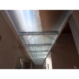 cobertura de policarbonato e vidro