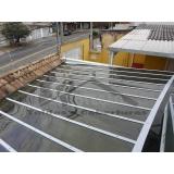 coberturas de policarbonato com madeira Vila Medeiros