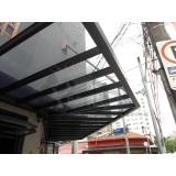 coberturas de policarbonato e vidro Campo Belo