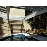 coberturas em policarbonato alveolar para piscina Caieiras