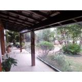 cortina de rolo em área externa Interlagos