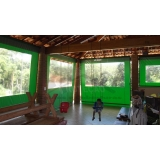 cortinas de lona com visor transparente Lapa