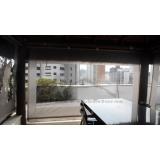 cortinas de lona com visor Morumbi