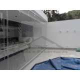cortinas de rolo em área externa Vila Medeiros