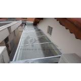 instalação de cobertura de policarbonato alveolar preço Rio Pequeno