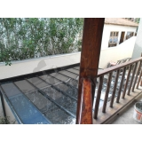 instalação de cobertura de policarbonato fixo preço Campo Belo
