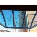 instalação de cobertura de policarbonato para porta Santo Amaro