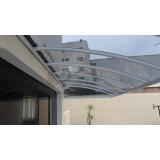 instalação de cobertura de policarbonato transparente preço Vila Gustavo