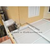 manutenção de cobertura de policarbonato retrátil Cursino