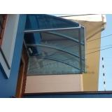 orçamento de cobertura de policarbonato compacta para janelas Casa Verde