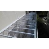orçamento de instalação de cobertura de policarbonato transparente Cupecê