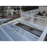 reforma de cobertura de policarbonato abre e fecha preço Jabaquara
