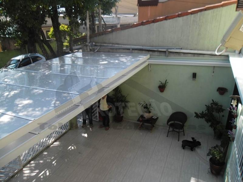 toldo articulado de lona Água Branca