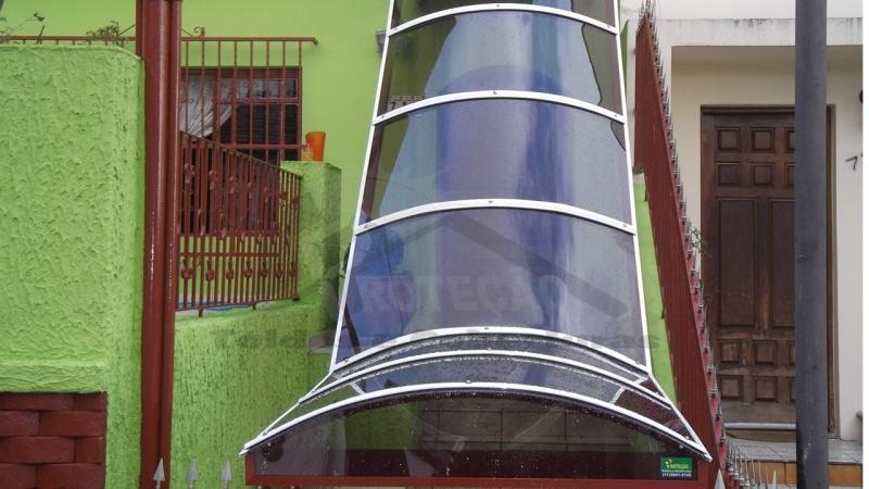 Toldo de Policarbonato para Porta Barra Funda - Toldos de Policarbonato para Janelas